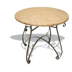 BUAR ARTESANOS Table en Fer et en rotin