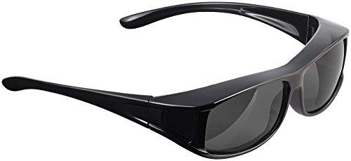 PEARL Sonnenüberbrille: Überzieh-Sonnenbrille Day Vision Pro für Brillenträger, polarisiert (Sonnenüberbrille polarisiert)