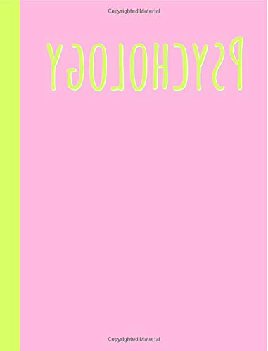 Psychology: Reverse,Psychologist Gifts,Notebook,Notepad,Pink,Funny ,Composition