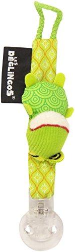 Les Déglingos 36613 Schnullerkette Croakos der Frosch