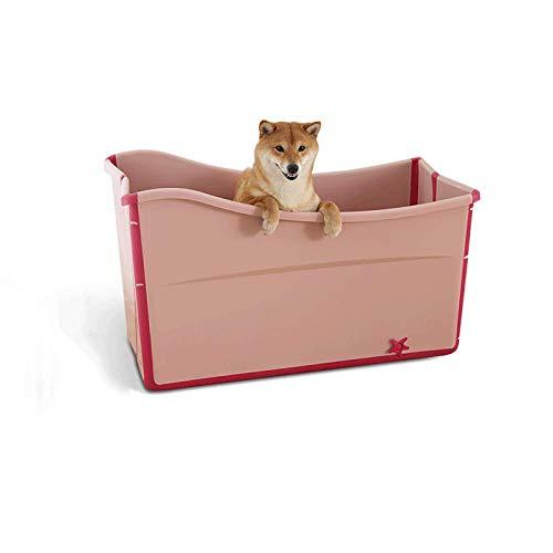 TIKEN Hundebadewanne Faltbare Kunststoff-Haustierbadewanne Hundeduschwanne Pool Katze Und Hund Universal,Pink
