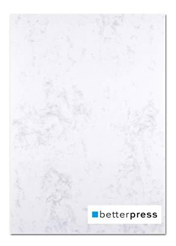 Betterpress® Briefpapier A4 Marmorpapier 120g Speisekarte Urkunde 100 Blatt grau