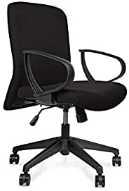 Wipro Furniture Smart Cushioned Back Executive Office Chair with Advanced Synchro Tilt Mechanism (Black)