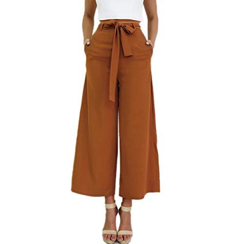 Uomogo strap pantaloni delle donna a vita alta cinghia jumpsuit gamba larga svasato palazzo pantaloni tuta da lavoro