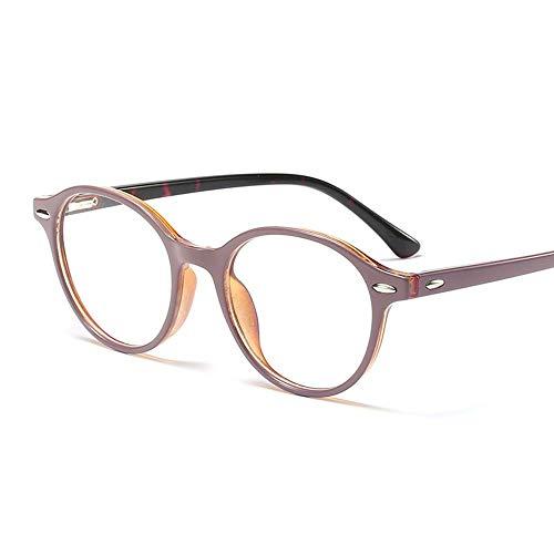 WULE-RYP Polarisierte Sonnenbrille mit UV-Schutz Gefälschte Nerd Brille Metall Runde Brillengestell, UnisexMens und Damen Superleichtes Rahmen-Fischen, das Golf fährt (Farbe : Purple/Leopard)