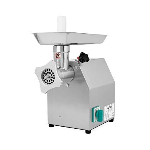 Vertes Hachoir à viande électrique professionnel (1100 watt, 220 kg/h, Acier inoxydable, 2 Couteaux, 4 Disques)