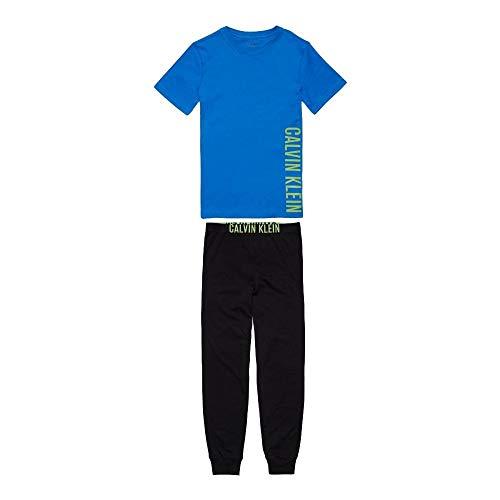 Calvin Klein Boys Intense Power Pyjama Set - Blue/Black Age 10-12 -
