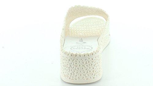 Jeffrey Campbell Fling Caoutchouc Sandales Compensés white