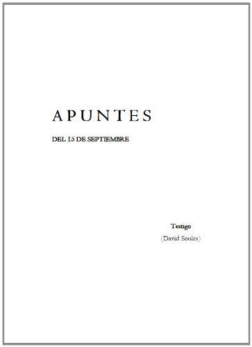 A P U N T E S por David Soules