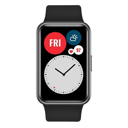 """Oferta de HUAWEI Watch FIT - Smartwatch con Cuerpo de Metal, Pantalla AMOLED de 1,64"""", hasta 10 días de batería, 96 Modos de Entrenamiento, GPS Incorporado, 5ATM, Color Negro"""