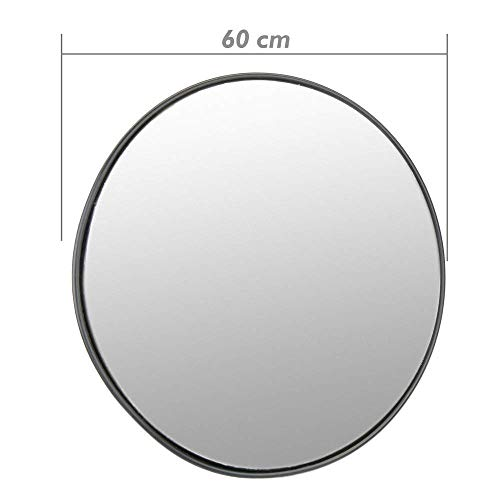 Cablematic - Espejo convexo de señalización seguridad vigilancia 60cm interiores negro