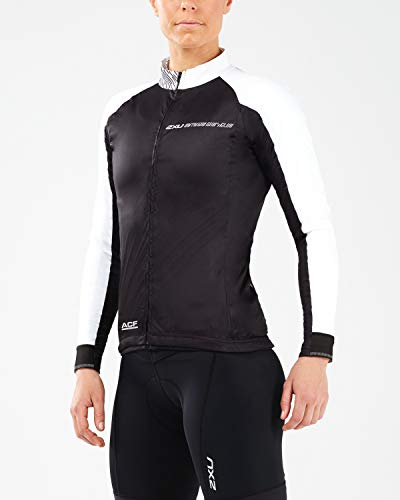2XU Damen Aero Winter Cycle Jacket-WC5421a Jacke, schwarz/weiß, m