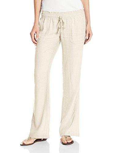 Roxy - - Damen Ocean Side Hosen, Medium, Stone Made Clothing Line