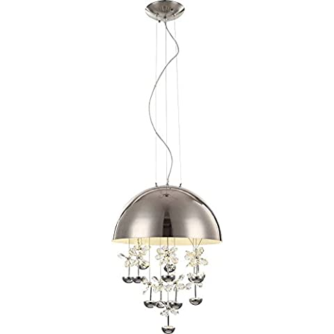 Hochwertige 39W LED Pendel Hänge Lampe Kristall Nickel EEk A+ Globo ASPEN 15998