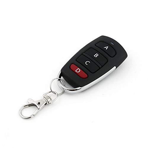 Tecla-de-control-remoto-inalmbrico-universal-4-botones-433MHz-Puerta-de-garaje-elctrica-Sistema-de-alarma-de-seguridad-Llave-del-controlador-Llaves-del-automvil-Negro-y-plata-0