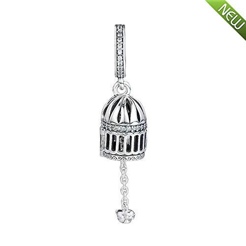 PANDOCCI 2018 Herbst frei ALS Vogel hängende Perle 925 Silber DIY passt für Original Pandora Armbänder Charm Modeschmuck (Pandora Authentisch Baumeln Charms)