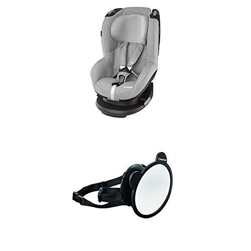 Maxi-Cosi Cabriofix, Babyschale Gruppe 0+ (0-13 kg), Sparkling Blue, ohne Isofix-Station + Großer Baby Rückspiegel für alle Autos, Autospiegel, Sicherheitsspiegel, Rücksitzspiegel