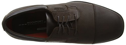 Rockport Essential Details Waterproof Cap Toe, Chaussures à Lacets Homme Marron - Brown (Dark Brown Leather)