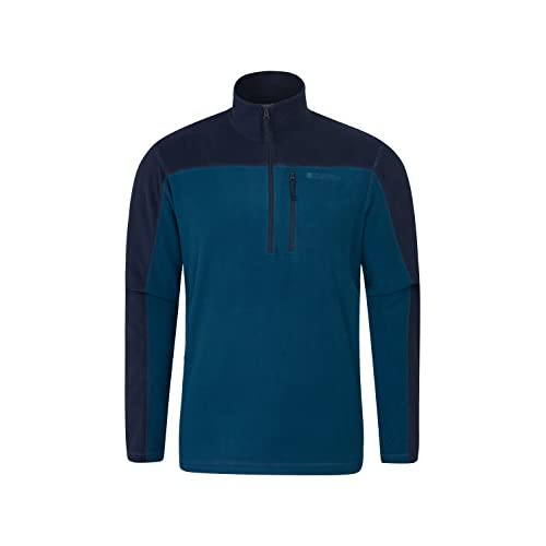 31w5QrS1lkL. SS500  - Mountain Warehouse Argyle Mens Half Zip Fleece Top - Quick Drying Sweater, Breathable, Microfleece Pullover, Chest Pocket - for Winter, Holidays