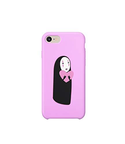 Pink Heart Spirited Away Studio Ghibli iPhone 6 7 8 X Plus Hard Plastic Protective Phone Case Schutzhülle Aus Hartplastik Handy Hülle Geschenk Weihnachten Christmas