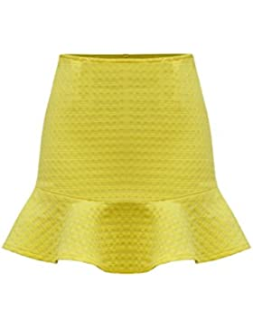 Pantalones Cortos De Mujer Vintage Forrado Monocolor Falda De Sirena De MIDI