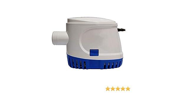 Facile /à Nettoyer Pompe de cale ZDYLM-Y Submersible Water Pump Dirty 12V 24V Contr/ôle Automatique Pompe de vidange Blanc