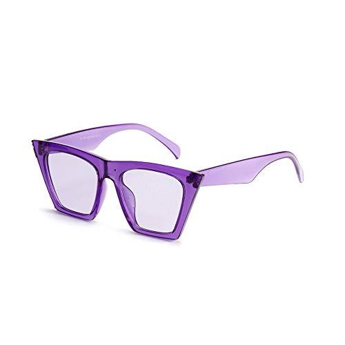 JUZEN Quadratische Sonnenbrille zeigte Flyer Rahmen Sonnenbrille Fahrer Fahren Gläser Outdoor Sports Anti-Sting-Brille Radfahren Anti-UV400 Sonnenbrille,Purple