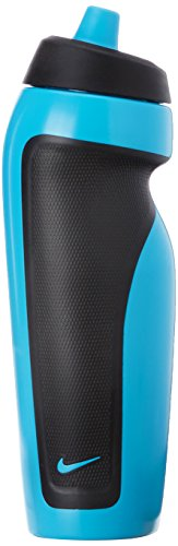 Nike Sport Water Bottle, One Size Fits Most (Blue Lagoon and Black)