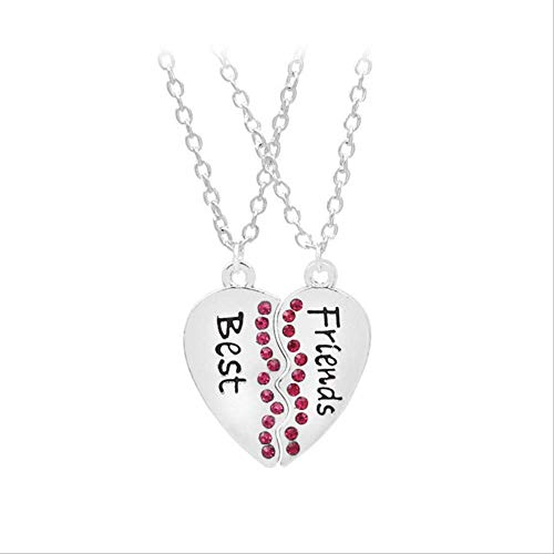 LJSP Halskette Mode 2pcs/Set gebrochen Anhänger Herz
