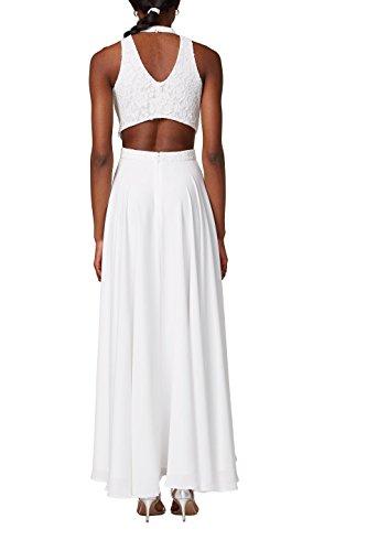 ESPRIT Collection Damen Partykleid Weiß Off White 110