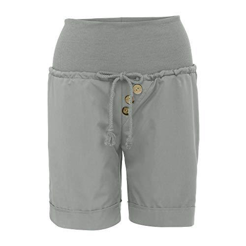 SIOPEW Hosen Damenmode Sommer Hot Pants Capri Shorts Hohe Taille Verband Hosen Hosen