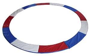 Tour de protection de rechange pour trampoline de jardin - Pièce de rechange tour de protection - Drapeau tricolore - Taille 1,85 m 3L