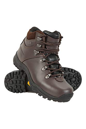 Mountain Warehouse Latitude Mens Vibram Waterproof Boots - Lightweight Walking Shoes, Breathable, Durable, Sturdy Grip - for Hiking, Camping, Travelling, Trekking