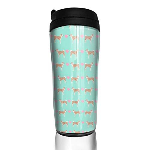 9 8 Oz Jar (Akita 23900 Kaffeetasse mit Herzen, für Hunde/Haustiere, Portrait-Muster, 340 ml, auslaufsicher, mit Klappdeckel, umweltfreundliches Material ABS)