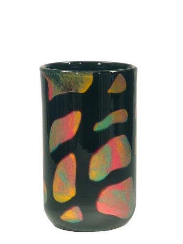 Dale Tiffany Bonfire Deko Vase, Glas, schwarz, 5-1/2-Inch by 9-1/2-Inch - Tiffany-glas-vase