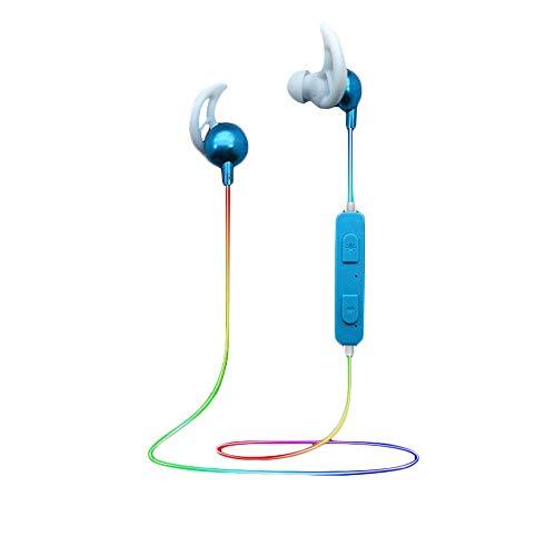 EUCoo V4.1 Auriculares Bluetooth Deportivos Color Iluminación Inteligente Auricular Bluetooth In Ear Azul Turquesa Talla única