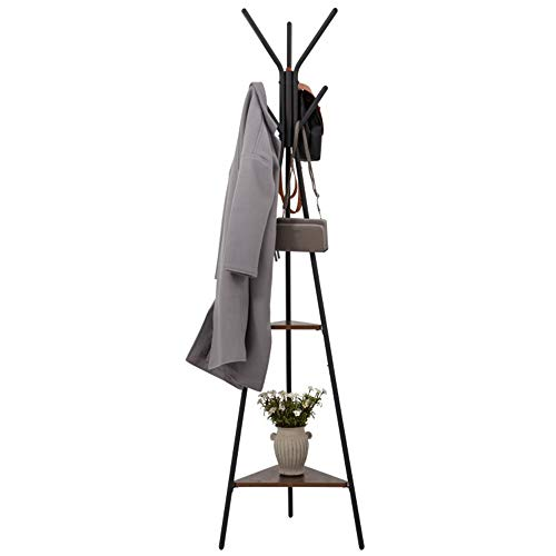 YLCK Hochwertige Mode Hut Mantel Schirmständer, Heavy Duty Rustproof Coat Tree und Metall Kleiderständer, 180cm (Color : Black, Size : 50X180cm) - Tree Coat