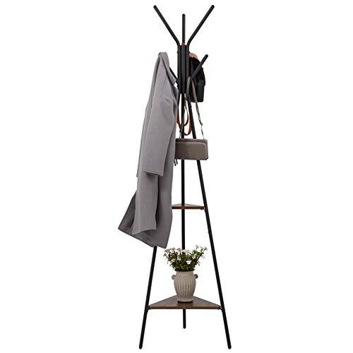 YLCK Hochwertige Mode Hut Mantel Schirmständer, Heavy Duty Rustproof Coat Tree und Metall Kleiderständer, 180cm (Color : Black, Size : 50X180cm) - Coat Tree