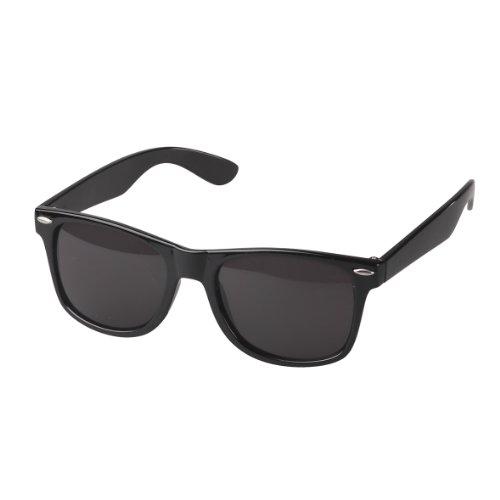 elasto form Hochwertige Sonnenbrille Retrobrille Vintage Stil Damen & Herren Unisex Nerdbrille (schwarz)