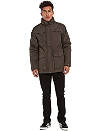 Mens Lance Premier Padded Car Coat with Concealed Hood- 12H