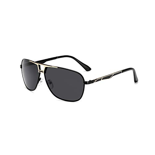 Sport-Sonnenbrillen, Vintage Sonnenbrillen, Sunglasses Männer Polarized Sun Glasses Eyewear WoMänner Eye Glasses Metal Frame HD Lens UV400 Shade Fashion Outdoor New Black Gold Frame