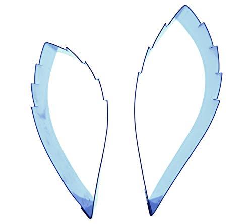 Motiv Christrose, Leaf Edelstahl Sugarcraft Ausstecher-Set mit 2 Schneidern 70 x 26 mm und 58 x 21 mm-Valley-Company Ausstechformen Fondant, Kuchendeko, Zuckerfiguren, und Edelmetall-Polymer Ton - Edelmetall-ton