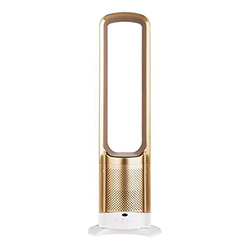 WSSZZ319 30,18-Zoll-Lüfter ohne Flügel Home-Fernbedienung Boden Desktop Silent Fan Moving Head Negative Ionen Luftreinigung Sicherheitslüfter,Gold -