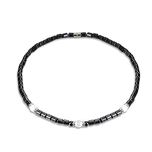 Damen-Art- und Weisehalskette, Art- und Weiseschwarze Hämatit-Halsketten-magnetische Kristallhalskette