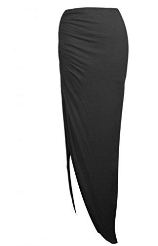Generic - Jupe - Asymétrique - Femme Multicolore Bigarré Taille Unique Noir