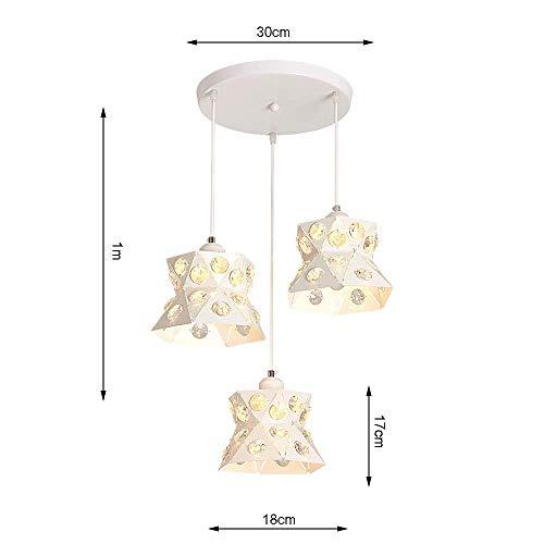 JZX Moderner Kristallleuchter, Retro geschmiedete Deckenleuchte, personalisierte kreative Innenbeleuchtung Schlafzimmer-Nachttischlampe,B - - Deckenleuchte Geschmiedet