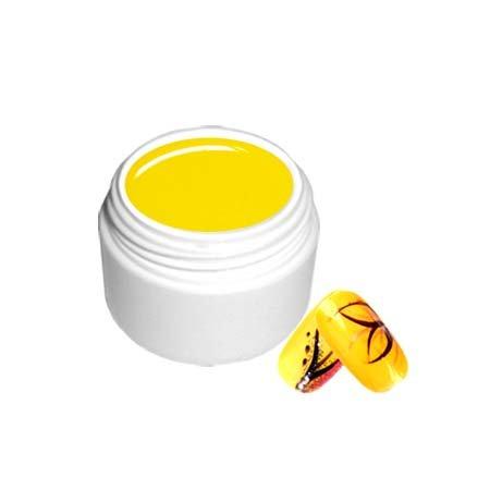NB24 UV Farbgel - Gelb - 5ml Frenchgel Colorgel für Nail Art und Schmucknägel im Bereich künstliche Fingernägel und Naturnagelverstärkung