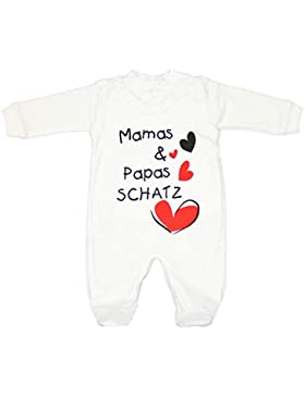 TupTam Unisex Baby Strampler Set Spruch Mamas & Papas Schatz