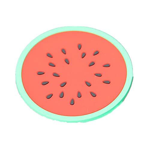 7 Teile/los Silikon Obst Scheiben Muster Untersetzer Getränke Tee Tasse Matte Schüssel :9cm Wassermelone 9cm -