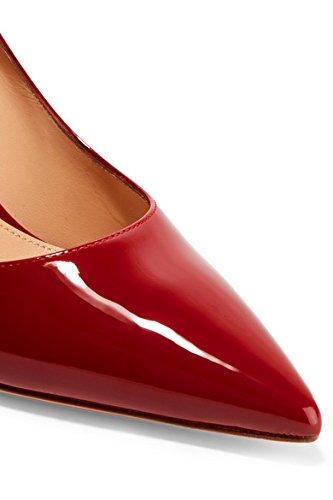 uBeauty Femmes A Enfiler Pointues Toe High Heels Escarpins Quotidiennement des Chaussures Grande Taille Rouge A